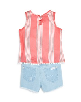 7 For All Mankind - Girls' Striped Tank & Shorts Set - Little Kid