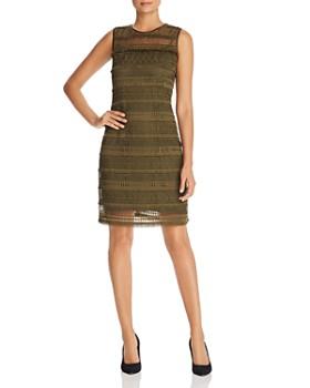 Elie Tahari - Renee Lace-Overlay Shift Dress
