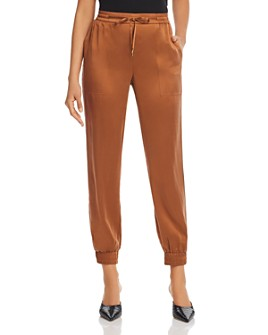 Eileen Fisher - Cropped Drawstring Silk Pants