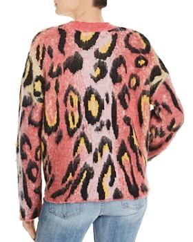 AQUA - Brushed Leopard Print Sweater - 100% Exclusive