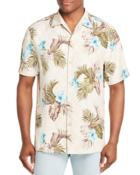 Tommy Bahama - Flora Breeze Way Short-Sleeve Botanical-Print Silk Classic Fit Shirt
