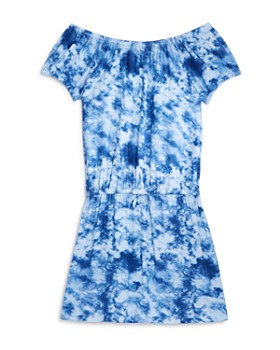 AQUA - Girls' Tie-Dyed Off-the-Shoulder Dress, Big Kid - 100% Exclusive