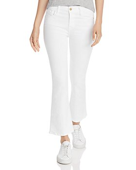 FRAME - Le Crop Mini Boot Jeans in Blanc