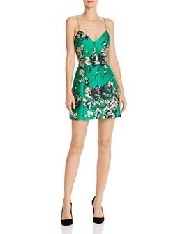 Alice and Olivia - Tayla Floral Structured Lantern Mini Dress