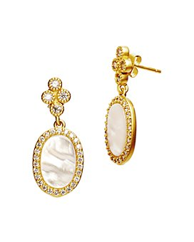Freida Rothman - Color Theory Oval Drop Earrings in 14K Gold-Plated Sterling Silver or Rhodium-Plated Sterling Silver