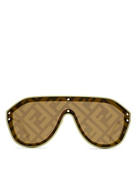Fendi - Unisex Logo Print Shield Sunglasses, 99mm