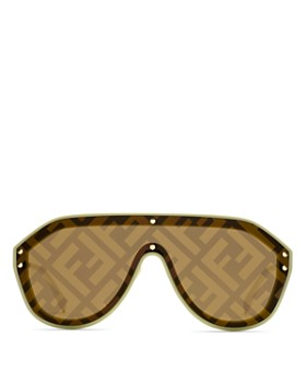 Fendi - Women's Logo-Print Shield Sunglasses, 99mm