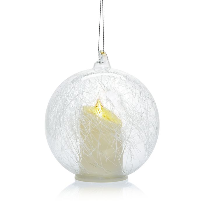 Bloomingdale's - LED Candle Glass Ball Ornament - 100% Exclusive