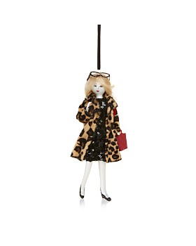 Bloomingdale's - Glass Shopper Girl Ornament - 100% Exclusive