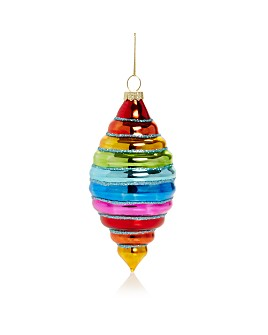 Bloomingdale's - Rainbow Finial Glass Ornament - 100% Exclusive