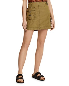 Free People - Erika Utility Mini Skirt