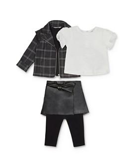 Habitual Kids - Girls' Plaid Jacket, Tee & Faux-Leather Skirt Set - Little Kid