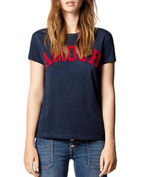 Zadig & Voltaire - Walk Amour Chine Overdyed Tee