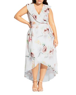 City Chic Plus - Day Dream Floral-Print Maxi Wrap Dress