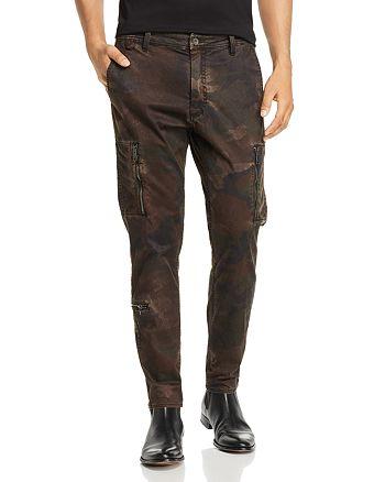 John Varvatos Star USA - Camo Slim Fit Cargo Pants