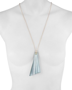 Alexis Bittar - Wavy Fan-Inspired Pendant Necklace, 28""