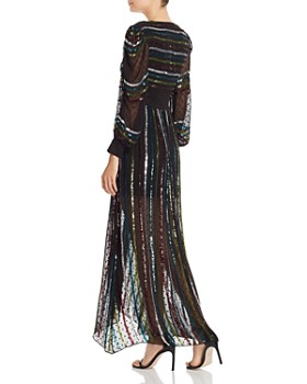 Rococo Sand - Sequin Striped Gown