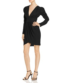 Amanda Uprichard - Analeigh Shirred Faux-Wrap Dress