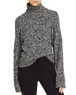 Rebecca Minkoff - Montana Crosshatched-Knit Turtleneck Sweater