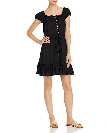 Tiare Hawaii - Riviera Ruffled Button-Front Mini Dress