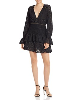 Ramy Brook - Wells Plunging Metallic-Detail Dress