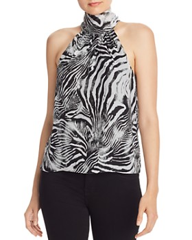 Ramy Brook - Lori Zebra Print Silk Top - 100% Exclusive