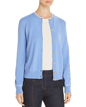 Tory Burch - Contrast-Trimmed Cashmere Cardigan