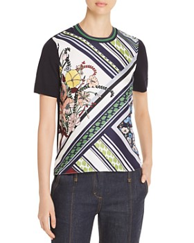 Tory Burch - Merino Wool & Silk Mixed-Media Top