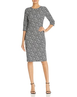 BOSS - Decka Houndstooth Sheath Dress