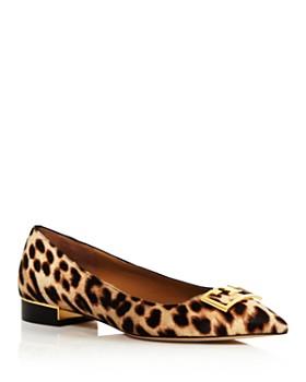 Tory Burch - Women's Gigi Pointed Toe Leopard-Print Flats