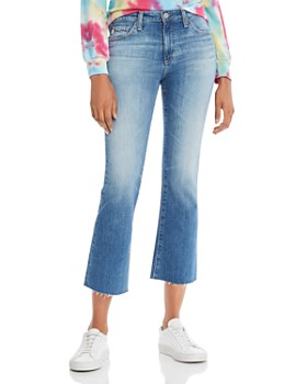 AG - Jodi Cropped Flared Jeans in 12 Years Eternal Blue