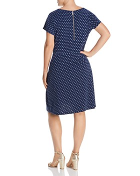 MICHAEL Michael Kors Plus - Mod Dot Fit-and-Flare Dress