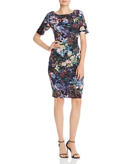 Adrianna Papell - Floral Sheath Dress - 100% Exclusive