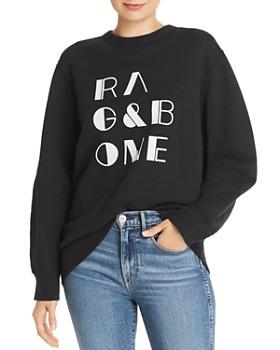 rag & bone - Flocked Logo Sweatshirt