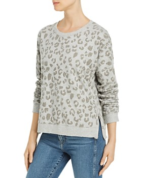 Rails - Marlo Flocked Leopard Print Sweatshirt