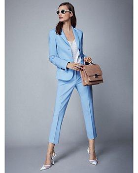 Theory - Wool-Blend Blazer, Cropped Pants & Printed Cami