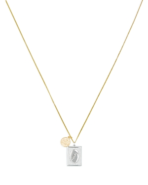 Bird Frame Sterling Silver & 18K Yellow Gold Pendant Necklace