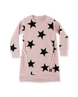 NUNUNU - Girls' Star Sweatshirt Dress - Baby