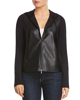 Bailey 44 - Angelica Faux-Leather Front Hoodie
