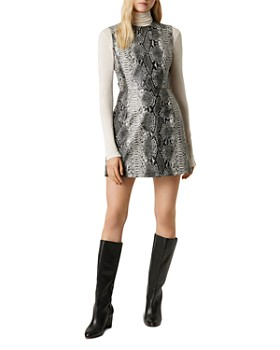 FRENCH CONNECTION - Dorotea Snakeskin-Print Mini Dress