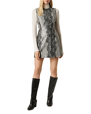 French Connection Dresses DOROTEA SNAKESKIN PRINT MINI DRESS