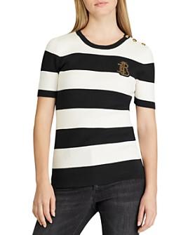 Ralph Lauren - Short-Sleeve Striped Sweater