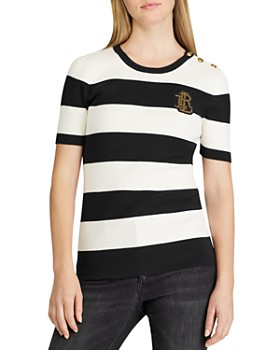Ralph Lauren - Short-Sleeve Striped Sweater