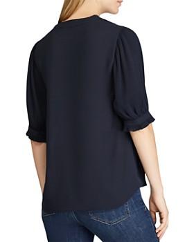 Ralph Lauren - Pleated-Sleeve Top