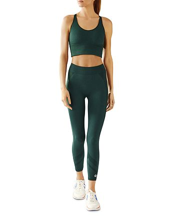 Tory Sport - Longline Seamless Sports Bra & Hi-Vis Cropped Leggings