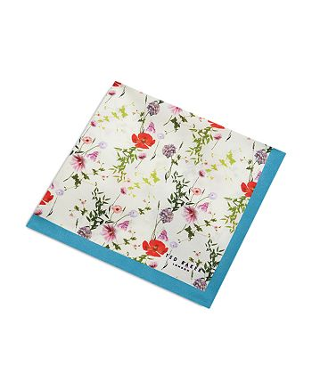 Ted Baker - Hedgpok Floral Print Pocket Square