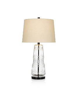 """Cresswell - Clear Glass Table Lamp 29"""""""