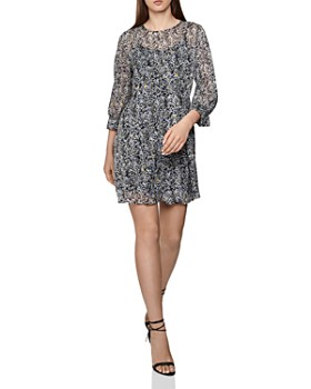371d0debda6be REISS - Charlotte Burnout Ditsy-Print Dress ...