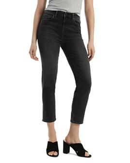 Mavi - Lea Vintage Cropped Jeans in Dark Gray