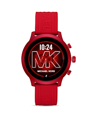 Michael Kors Mk Go Silicone Strap Touchscreen Smartwatch, 43mm